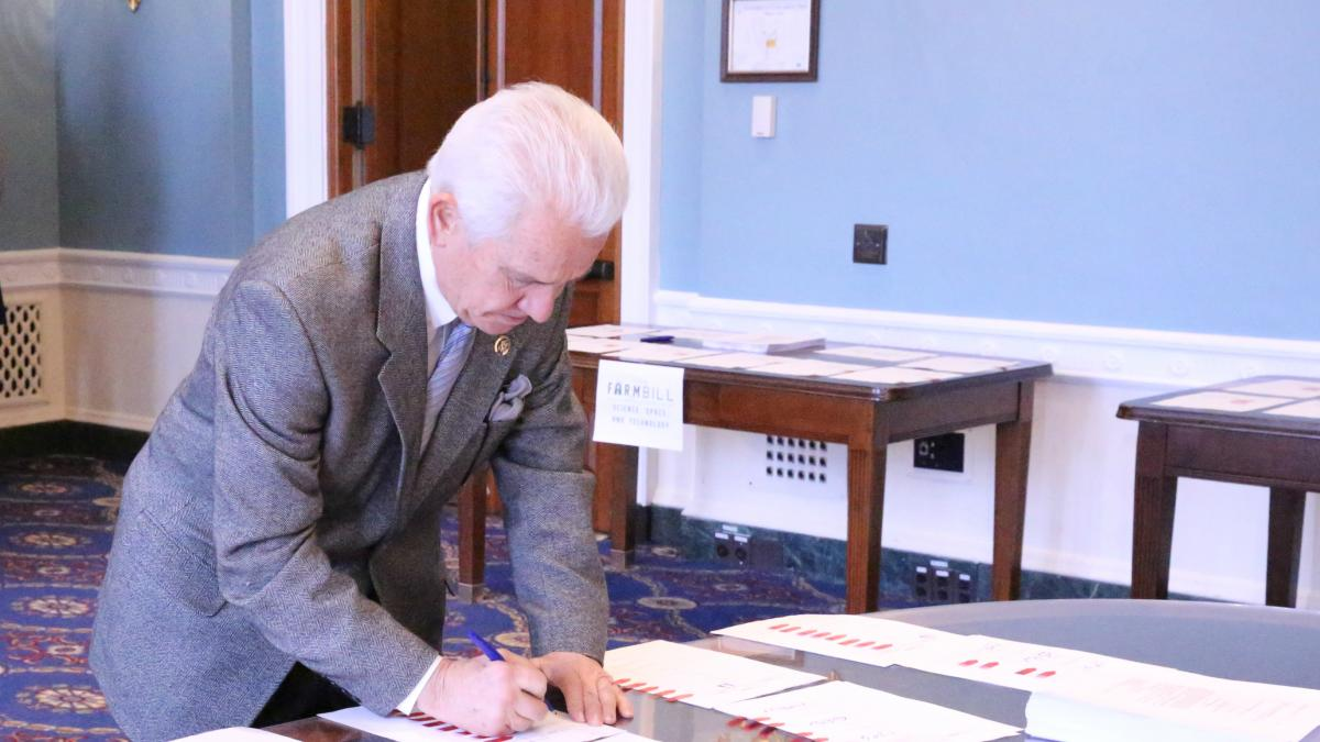 Rep. Costa Signing Farm Bill Conference Report - 12.10.2018