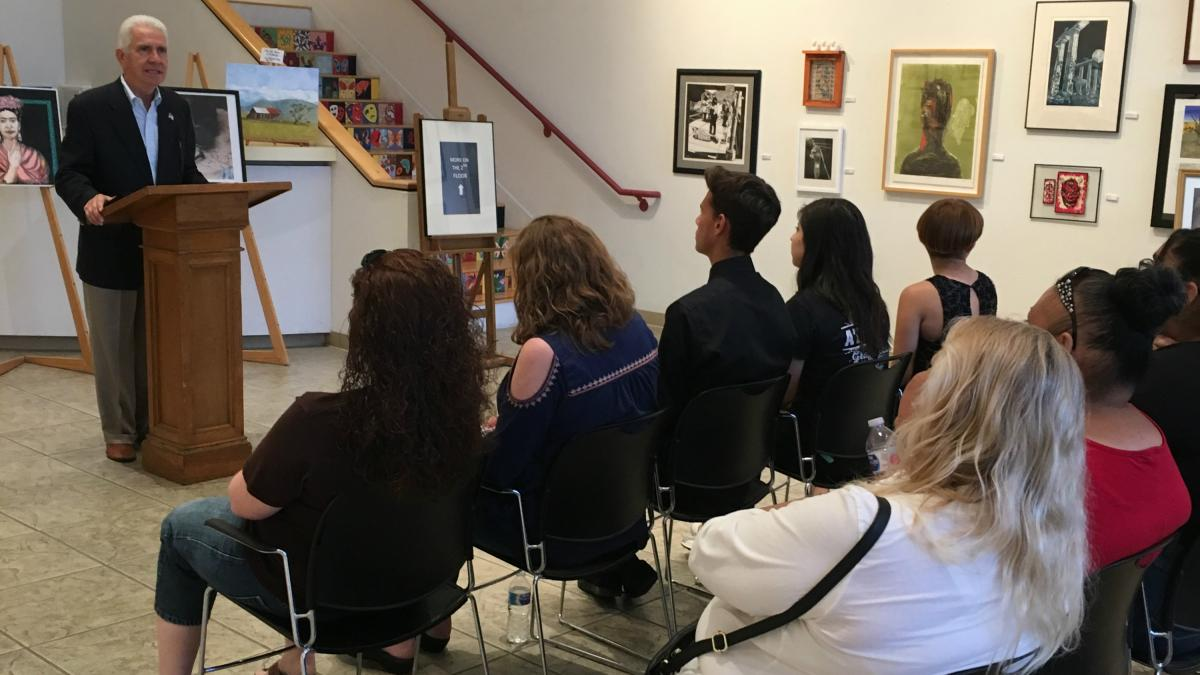 Costa and Merced County Arts Council Honor Merced Student