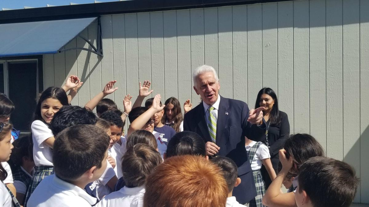 Rep. Costa Visits Charlie Keyan Armenian Community School