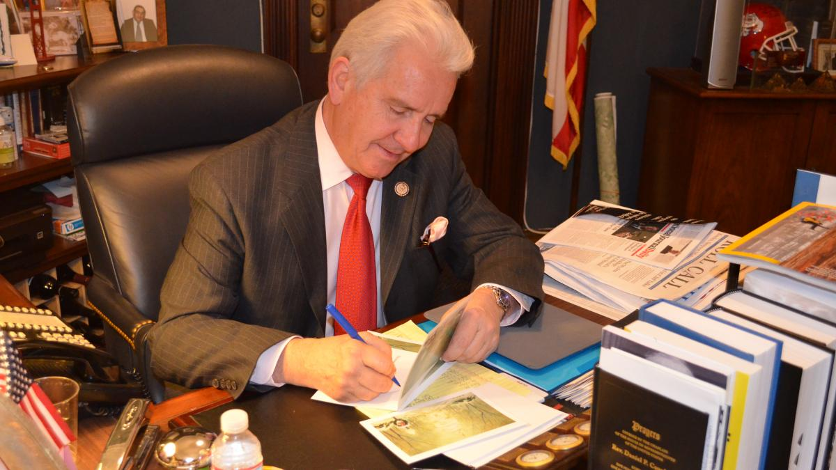 Rep. Costa Signing His Holiday Cards During 2012 Drive