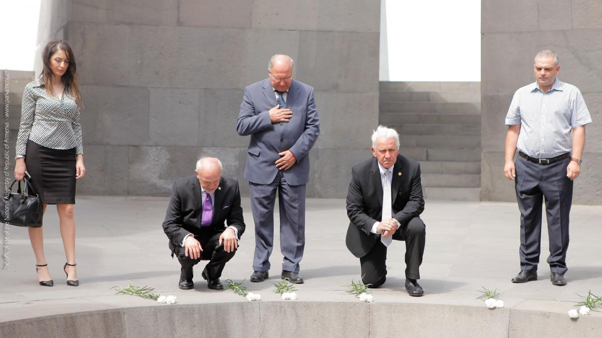 Rep. Costa Visits Armenian Genocide Memorial in Yerevan (July 2016)