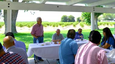 Rep. Costa and Sec. Perdue at August 2018 Ag Roundtable