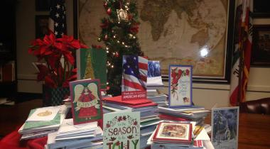Congressman Costa Annual Holiday Card Drive for Veterans